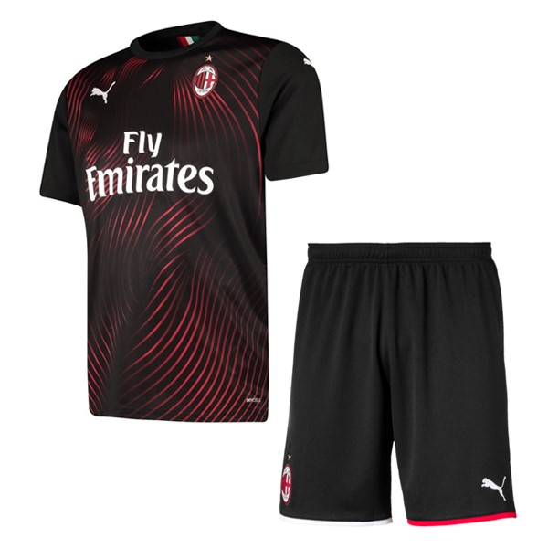 Maillot De Foot PUMA Third Ensemble Enfant AC Milan 2019 2020 Rouge Noir