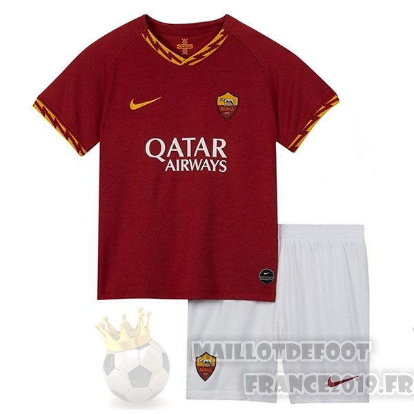 Maillot De Foot Nike Domicile Ensemble Enfant AS Roma 2019 2020 Rouge