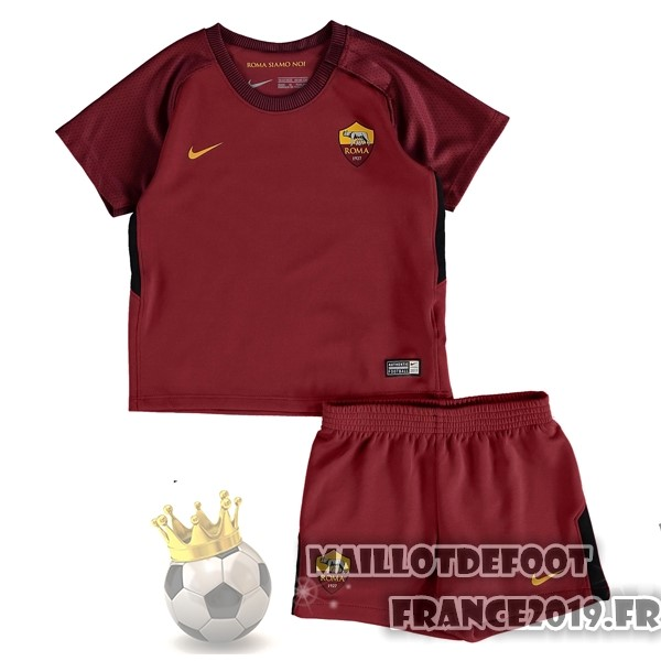 Maillot De Foot Nike Domicile Ensemble Enfant AS Roma 2017-2018 Rouge