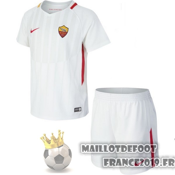 Maillot De Foot Nike Exterieur Ensemble Enfant AS Roma 2017-2018 Blanc