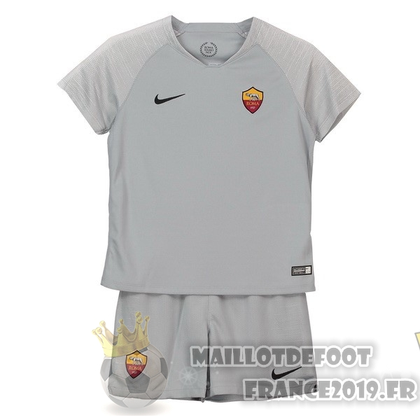 Maillot De Foot Nike Exterieur Ensemble Enfant AS Roma 2018-2019 Gris