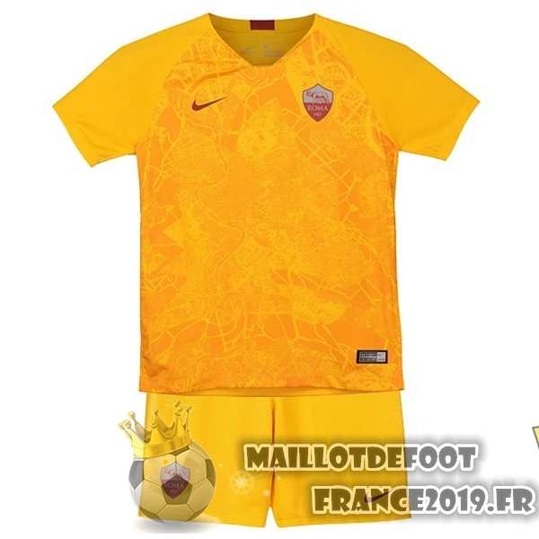 Maillot De Foot Nike Third Ensemble Enfant AS Roma 18-19 Jaune