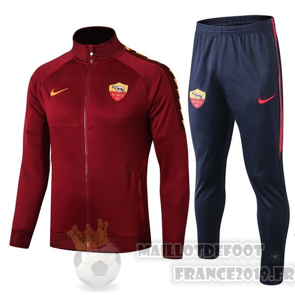 Maillot De Foot Nike Survêtements Enfant AS Roma 2019 2020 Rouge Marine