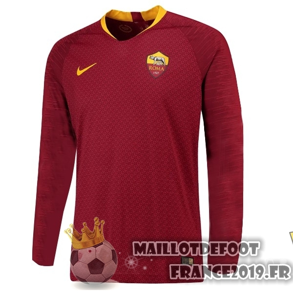 Maillot De Foot Nike Domicile Manches Longues As Roma 18-19 Rouge