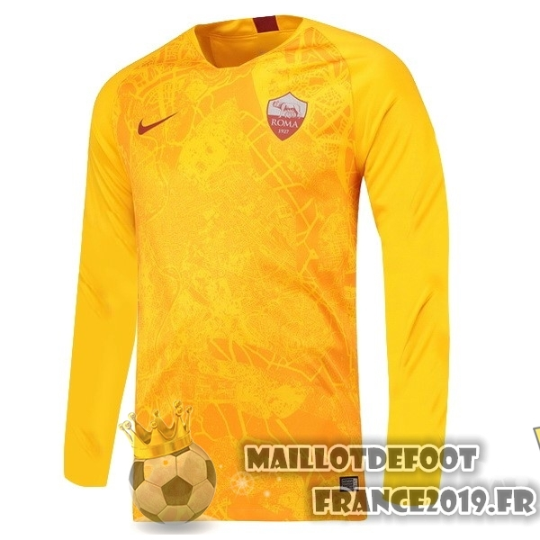 Maillot De Foot Nike Third Manches Longues As Roma 18-19 Jaune