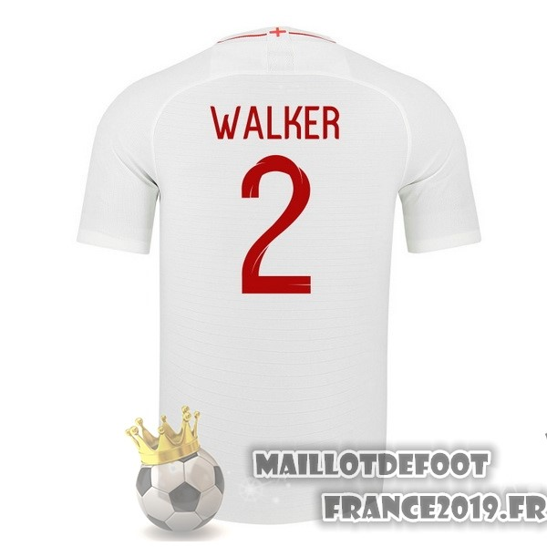 Maillot De Foot Nike NO.2 Walker Domicile Maillots Angleterre 2018 Blanc