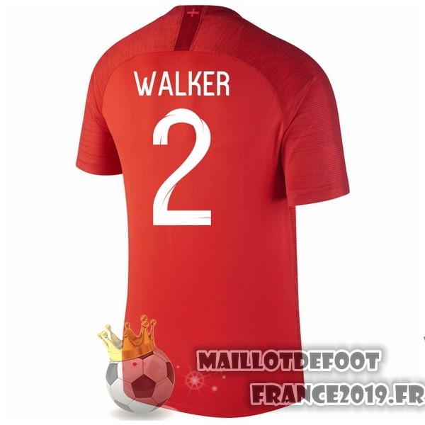 Maillot De Foot Nike NO.2 Walker Exterieur Maillots Angleterre 2018 Rouge