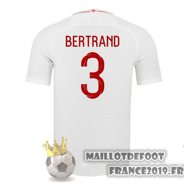 Maillot De Foot Nike NO.3 Bertrand Domicile Maillots Angleterre 2018 Blanc