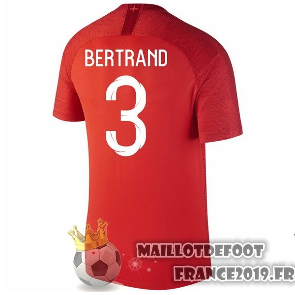 Maillot De Foot Nike NO.3 Bertrand Exterieur Maillots Angleterre 2018 Rouge