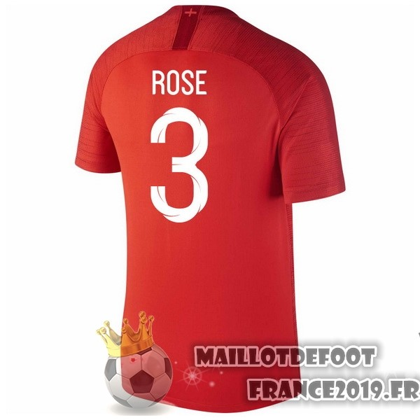 Maillot De Foot Nike NO.3 Rose Exterieur Maillots Angleterre 2018 Rouge