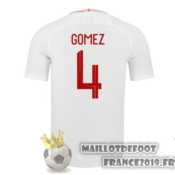 Maillot De Foot Nike NO.4 Gomez Domicile Maillots Angleterre 2018 Blanc