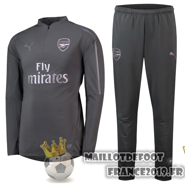 Maillot De Foot PUMA Survêtements Enfant Arsenal 18-19 Gris