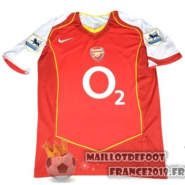 Maillot De Foot Nike DomiChili Maillot Arsenal Vintage 2004 2005 Rouge