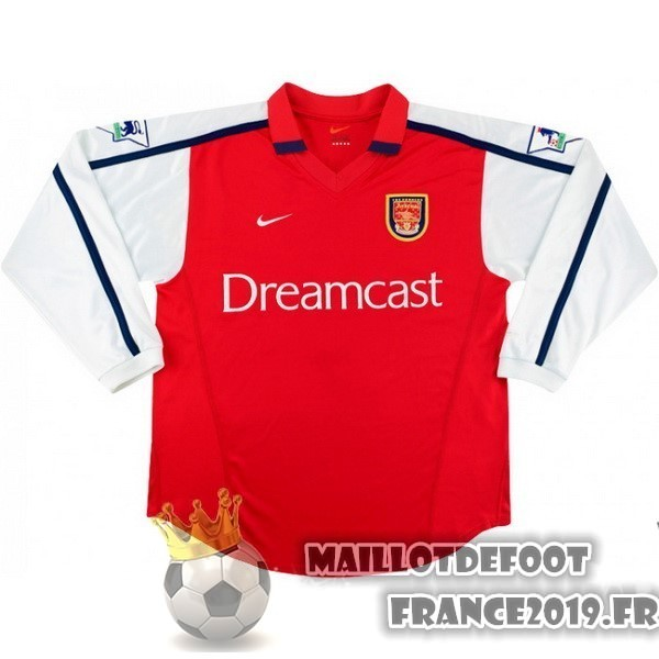Maillot De Foot Nike DomiChili Manches Longues Arsenal Vintage 2000 Rouge