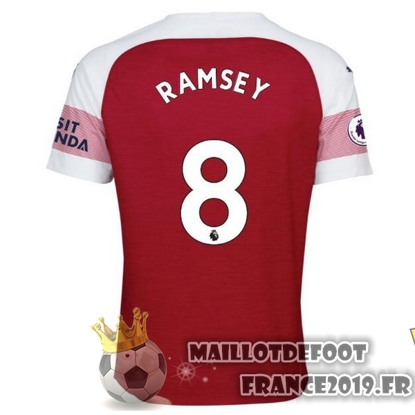 Maillot De Foot PUMA NO.8 Ramsey Domicile Maillots Arsenal 18-19 Rouge