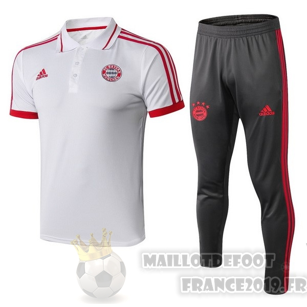 Maillot De Foot adidas Ensemble Polo Bayern Munich 2018 2019 Blanc Rouge