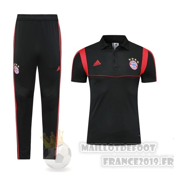 Maillot De Foot adidas Ensemble Polo Bayern Munich 2019 2020 Noir Rouge