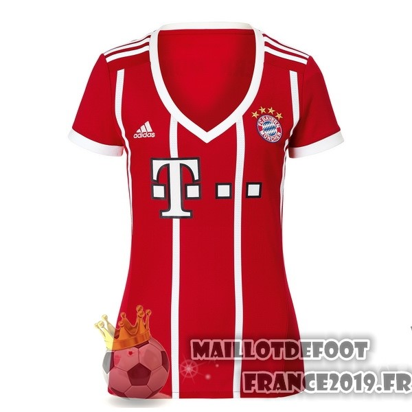 Maillot De Foot adidas Domicile Maillots Femme Bayern Munich 2017-2018 Rouge