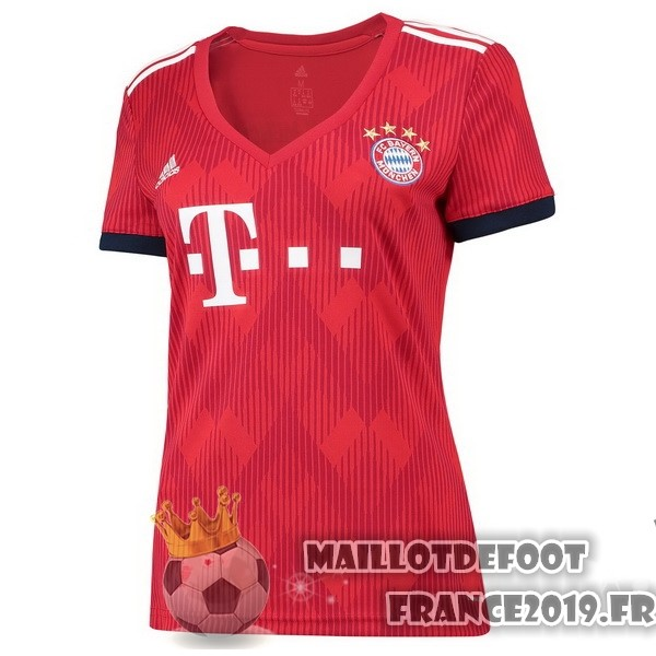 Maillot De Foot adidas Domicile Maillots Femme Bayern Munich 2018-2019 Rouge