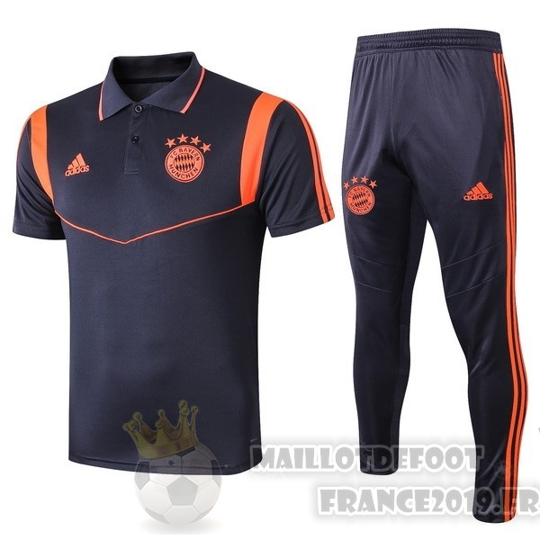 Maillot De Foot adidas Ensemble Polo Bayern Munich 2019 2020 Bleu Orange
