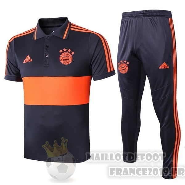 Maillot De Foot adidas Ensemble Polo Bayern Munich 2019 2020 Orange Bleu