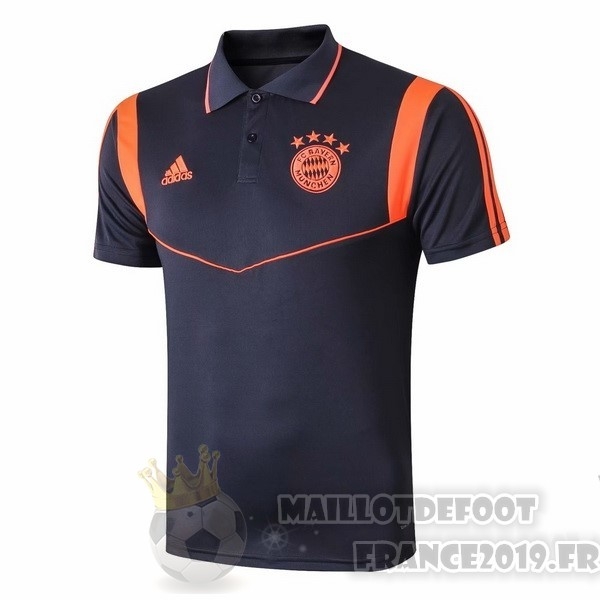 Maillot De Foot adidas Polo Bayern Munich 2019 2020 Bleu Orange