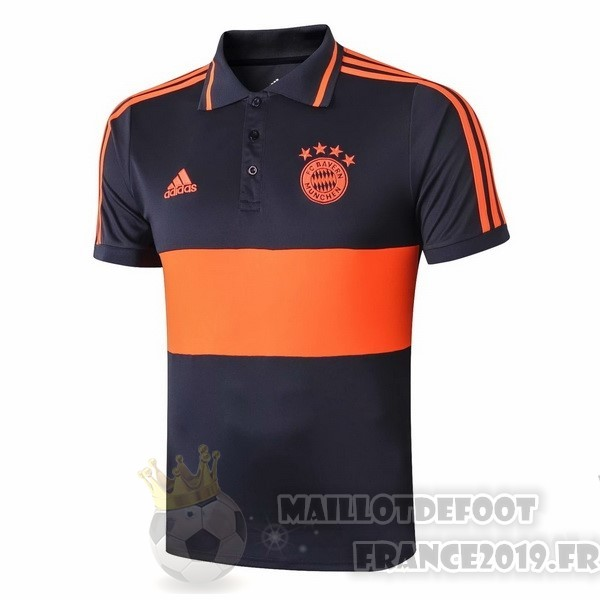 Maillot De Foot adidas Polo Bayern Munich 2019 2020 Orange Bleu