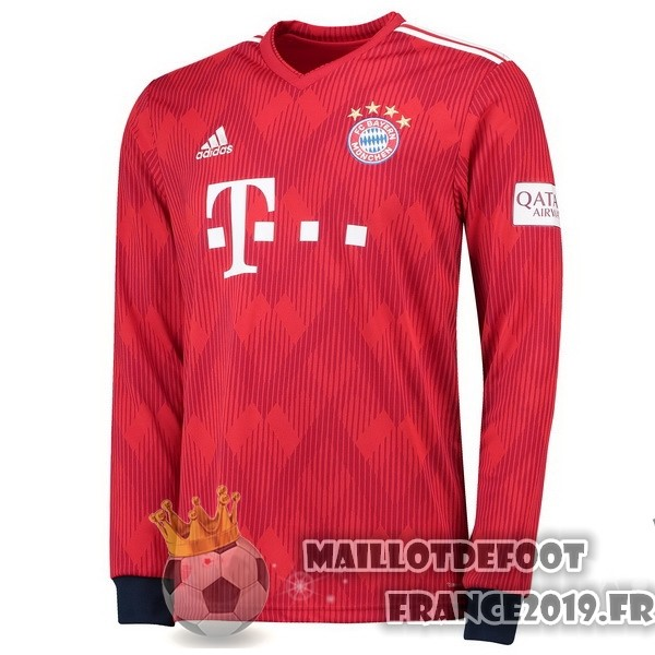 Maillot De Foot adidas Domicile Maillots Manches Longues Bayern Munich 2018-2019 Rouge