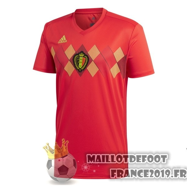 Maillot De Foot adidas Domicile Maillots Belgica 2018 Rouge