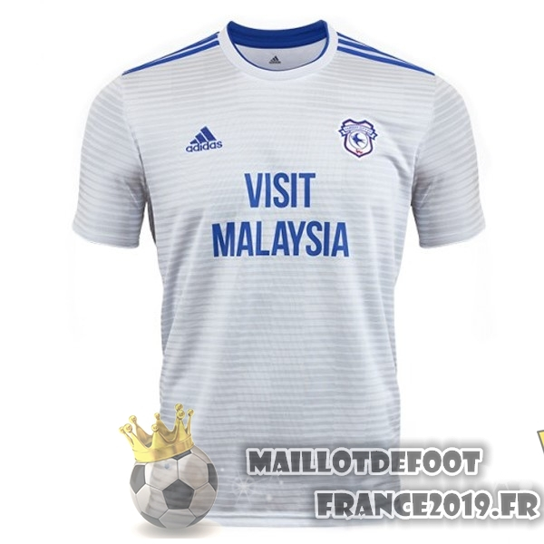Maillot De Foot adidas Exterieur Maillots Cardiff City 18-19 Blanc