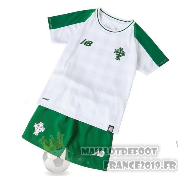 Maillot De Foot New Balance Exterieur Ensemble Enfant Celtic 2018-2019 Blanc