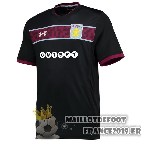 Maillot De Foot Under Armour Exterieur Maillots Aston Villa 2017-2018 Noir