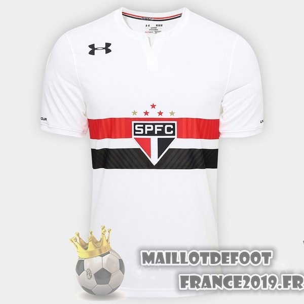 Maillot De Foot Under Armour Domicile Maillots Sao Paulo 2017-2018 Blanc