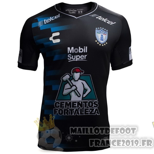 Maillot De Foot Tenis Charly Exterieur Maillots Pachuca 2018-2019 Noir