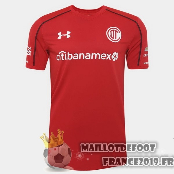 Maillot De Foot Under Armour Domicile Maillots Deportivo Toluca 2017-2018 Rouge