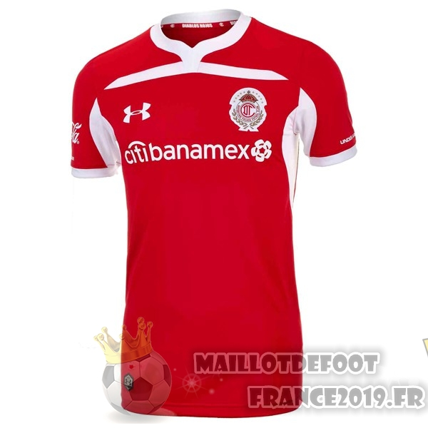 Maillot De Foot Under Armour Domicile Maillots Deportivo Toluca 2018-2019 Rouge