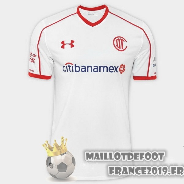 Maillot De Foot Under Armour Exterieur Maillots Deportivo Toluca 2017-2018 Blanc