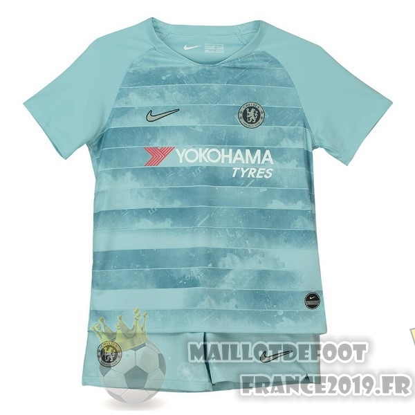 Maillot De Foot Nike Third Ensemble Enfant Chelsea 2018-2019 Bleu