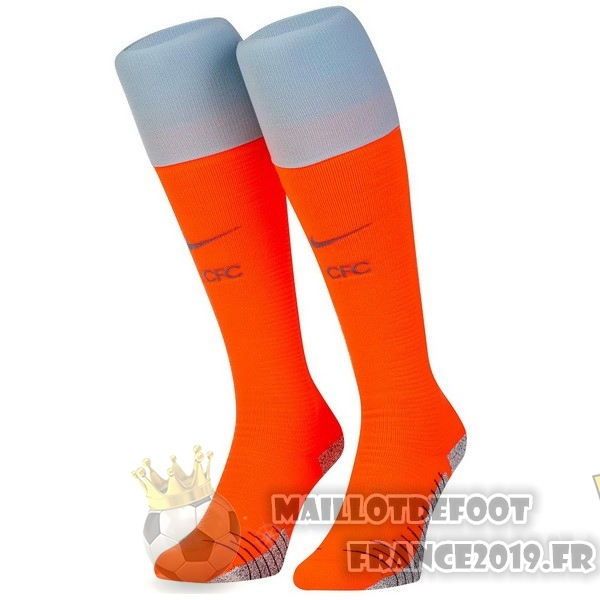 Maillot De Foot Nike Third Chaussettes Chelsea 2018-2019 Orange