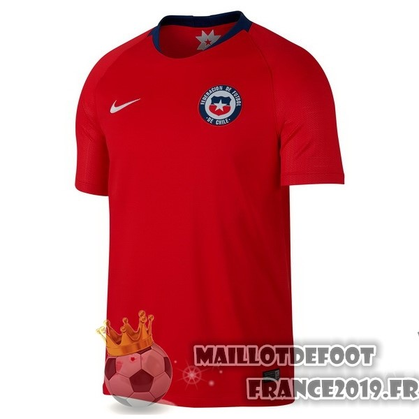 Maillot De Foot Nike Domicile Maillots Chili 2018 Rouge