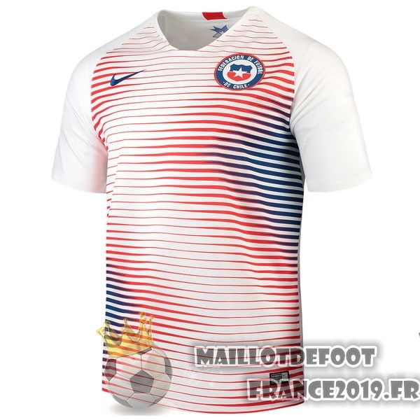 Maillot De Foot Nike Exterieur Maillots Chili 2018 Blanc