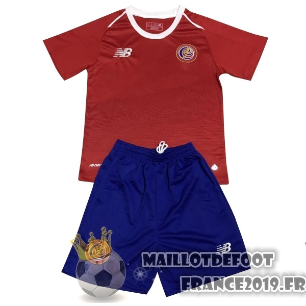 Maillot De Foot New Balance Domicile Ensemble Enfant Costa Rica 2018 Rouge