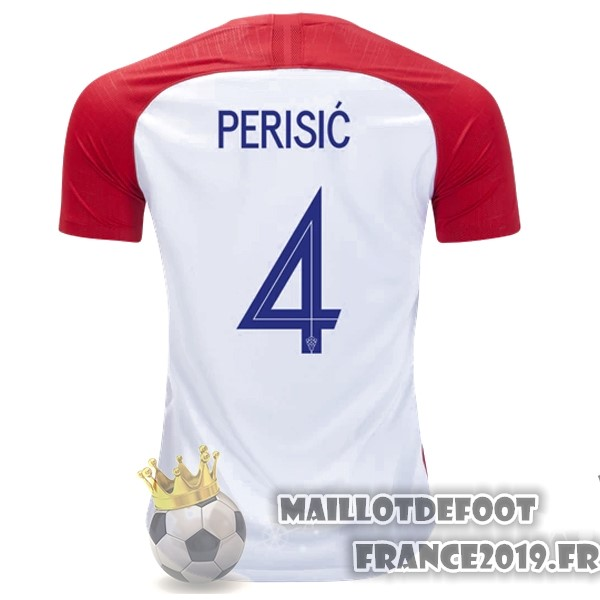 Maillot De Foot Nike NO.4 Perisic Domicile Maillots Croatie 2018 Rouge