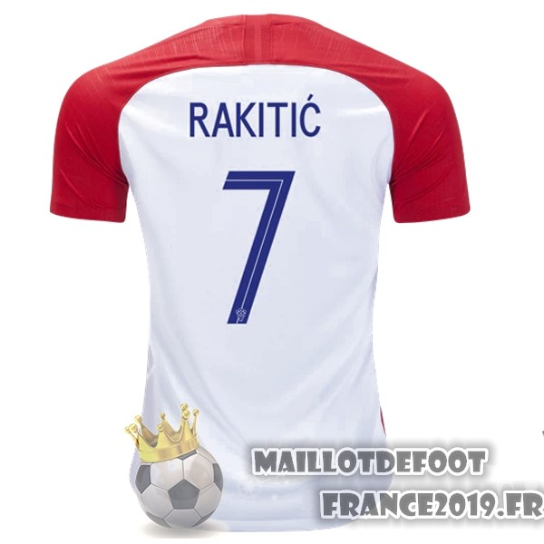 Maillot De Foot Nike NO.7 Rakitic Domicile Maillots Croatie 2018 Rouge