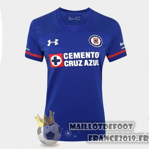Maillot De Foot Under Armour Domicile Maillots Femme Cruz Azul 2017-2018 Bleu