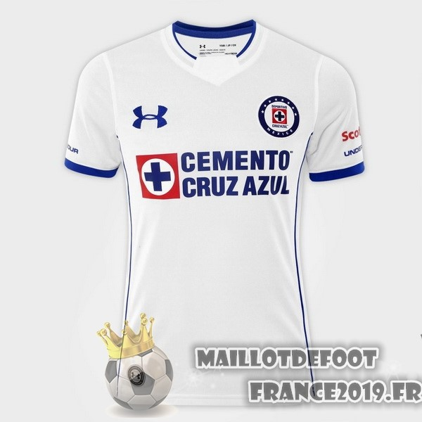 Maillot De Foot Under Armour Exterieur Maillots Femme Cruz Azul 2017-2018 Blanc