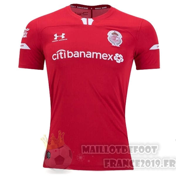Maillot De Foot Under Armour Domicile Maillot Deportivo Toluca 2019 2020 Rouge