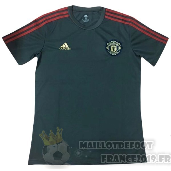 Maillot De Foot Adidas Entrainement Manchester United 2019 2020 Gris Marine