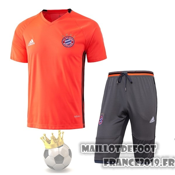Maillot De Foot adidas Entrainement Ensemble Bayern Munich 2017-2018 Orange