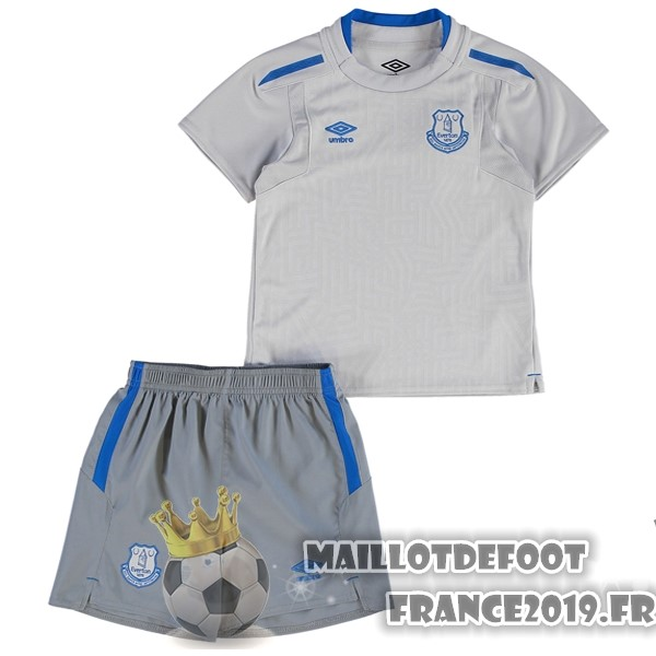 Maillot De Foot umbro Exterieur Ensemble Enfant Everton 2017-2018 Gris